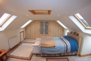 bedroom loft conversion with velux windows